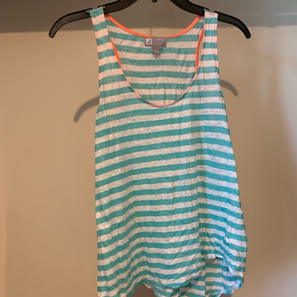 Tops - Striped Muscle Tank Top